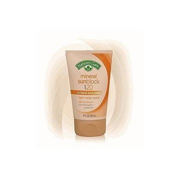 Nature's Gate Mineral Sunblock SPF 20, Light Melon Scent, 4-Ounce