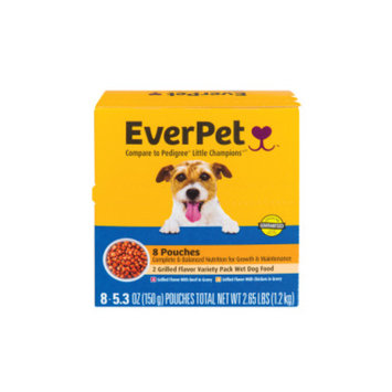 Everpet EverPet Wet Dog Food Variety Pack, 8 pouches
