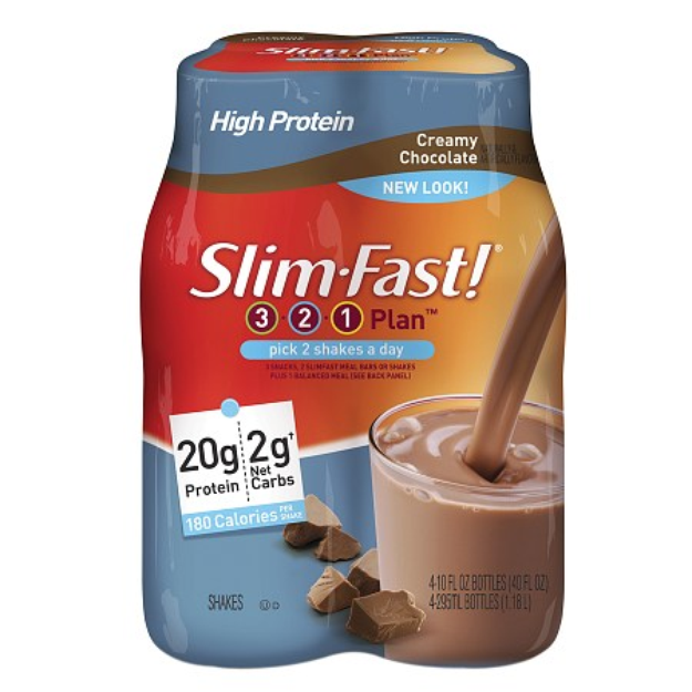 SlimFast Low Carb High Protein Creamy Chocolate Shakes