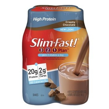Slim-Fast 3-2-1 Plan Low Carb Shake Ready to Drink 4-Pack