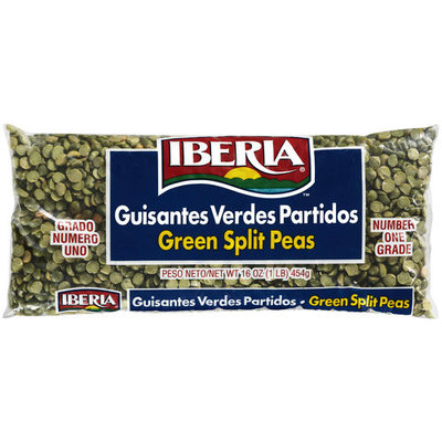 Iberia Split Green Peas, 16 oz