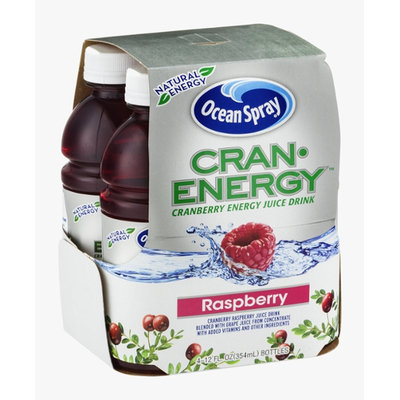 Ocean Spray Cran-Energy Cranberry Energy Juice Drink Raspberry - 4 CT
