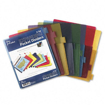 Cardinal Supplies Expanding Pocket Multicolor Index Dividers