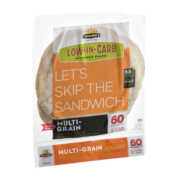 Tumaro's Wraps Low-In-Carb Multi-Grain - 8 CT