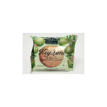 Nikkies Nikkis® Cookies & Confections - Key Lime Shortbread w/almonds. (Case of 24)