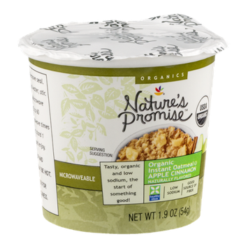 Nature's Promise Organic Instant Oatmeal Apple Cinnamon