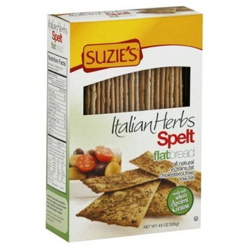 Suzies Suzie's Spelt with Rosemary Flatbreads 4.45 oz. (Pack of 12)