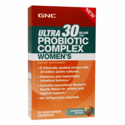 GNC Probiotics Ultra 30 Billion CFUs Probiotic Complex Women's, Vegetarian Capsules, 30 ea