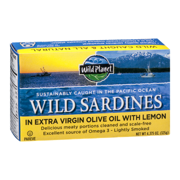 Wild Planet Wild Sardines in Extra Virgin Olive Oil with Lemon