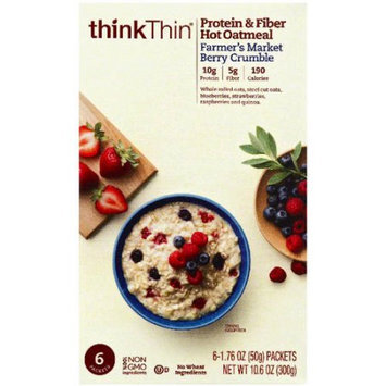 thinkThin Farmer's Market Berry Crumble Hot Oatmeal Protein & Fiber