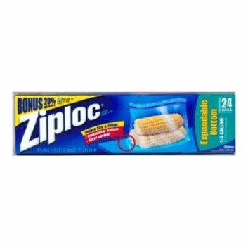 SC Johnson Ziploc EZ Zipper Storage Bag (Pack 12)