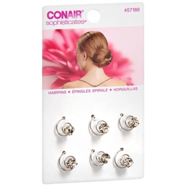 Conair Sophisticates Rhinestone Hair Pins