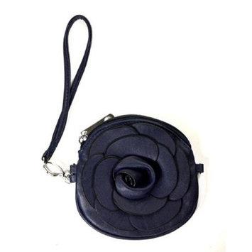 Designer Wristlet Fashion Flower Wristlet (Royal-blue)