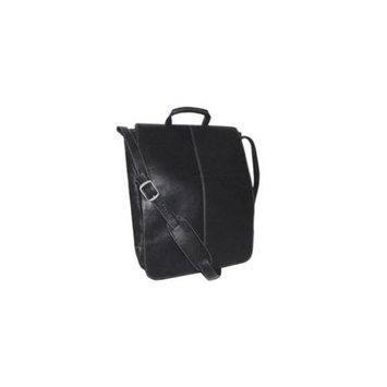 Royce Leather VLCSVM-BLK Vaquetta 17 Inch Vertical Laptop Messenger Bag, Black