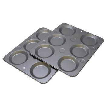 OvenStuff 2 Muffin Caps Pans - Gray (6 Cup)