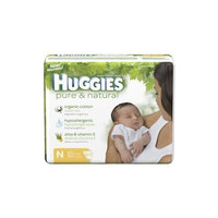 Huggies Pure & Natural Diapers, Size N, Super Mega 60 ea