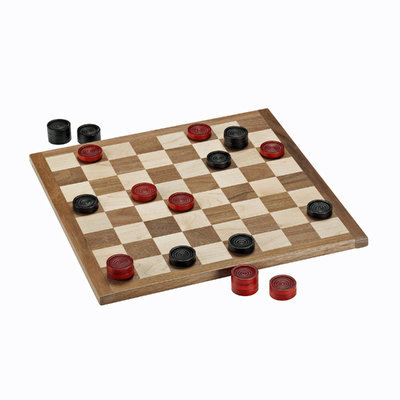 Wood Expressions French Classic Red & Black Piece Checkers Set