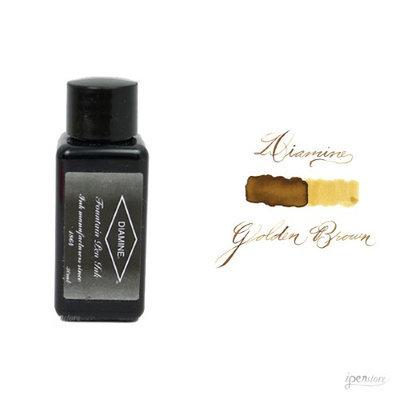 Diamine 30 ml Bottle Fountain Pen Ink, Golden Brown