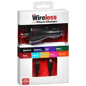 Just Wireless Car Charger for Motorola & Blackberry