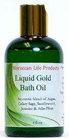 Liquid Gold Bath Oil Moroccan Life Products 4 oz Oil