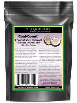 Prescribed For Life Coal-Conut - Activated Coconut Shell Charcoal Fine Husk Powder, 8 oz
