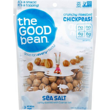 The Good Bean Sea Salt Crunchy Roasted Chickpeas, 2.5 oz, (Pack of 12)