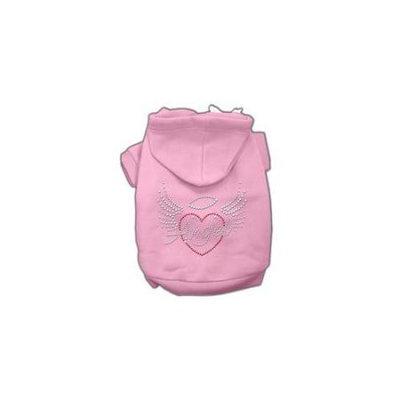 Ahi Angel Heart Rhinestone Hoodies Pink XXXL(20)