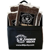Buffalo Bills Premium Snacks Buffalo Bills Venison Jerky 6-Pack Gift Cooler (filled with four 10oz bags of venison jerky)
