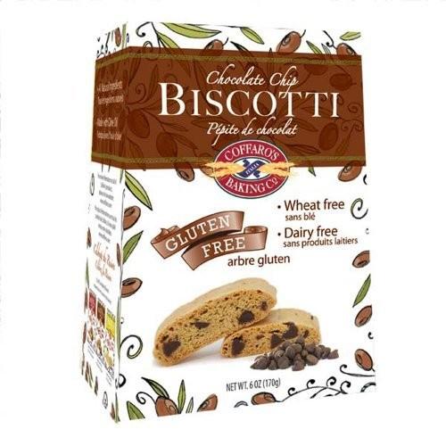 Coffaro's Baking Company Biscotti, Chocolate Chip, 6-Ounce (Pack of 3)