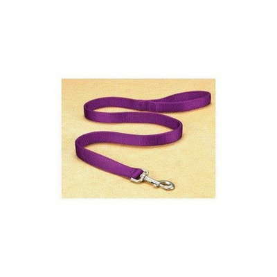 Hamilton Double Thick Nylon Lead with Snap in Hot Purple