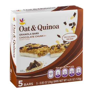 Ahold Oat & Quinoa Granola Bars Chocolate Chunk - 5 CT