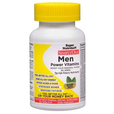 Super Nutrition SimplyOne Men Multivitamin-Mineral Dietary Supplement Tablets