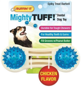 Ruffin It Ruffin' It Mighty Tuff Spiky Treat Barbell Dental Dog Toy