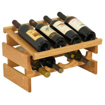 Wooden Mallet WRD41LO 8 Bottle Dakota Wine Rack with Display Top