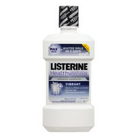 LISTERINE Whitening HealthyWhite Vibrant Anticavity Mouthrinse, Clean Mint, 32 fl oz