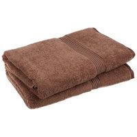 Blue Nile Mills 2-Piece Set 100% Egyptian Cotton Absorbent Bath Sheets, Mocha