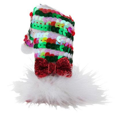 Top PawA Pet HolidayTM Clip-On Sequin Santa Hat