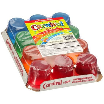 Jell-o Ready To Eat JELL-O Carnival Variety Gelatin Snacks, 12 count