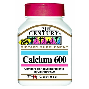 21st Century Calcium 600 mg 75 Cplts