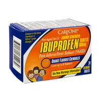CareOne Ibuprofen Junior Strength Ages 2-11 Orange Flavored Chewables Pain Reliever/Fever Reducer - 24 CT