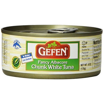 Gefen Fancy Albacore Chunk White Tuna in Water, Kosher for Passover, 6 Ounce (Pack of 8)