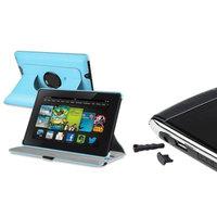 Insten INSTEN Blue 360 Leather Case Cover+USB Dust Cap For Amazon Kindle Fire HD 7 2nd Gen