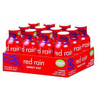 Red Rain Energy Shot, Watermelon Flavor, 2-Ounce Bottles (Pack of 12)