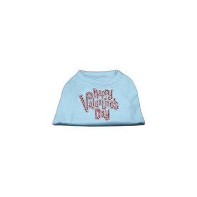 Ahi Happy Valentines Day Rhinestone Dog Shirt Baby Blue XXL (18)