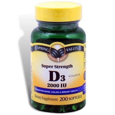 Spring Valley - Vitamin D-3 2000 IU, High Potency, 200 Softgels