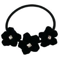 Smoothies Velvet Flower w/Crystals - Burgundy 01099