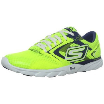 Skechers Performance Men's Go Run Speed Running Shoe [Lime / Blue, 12.5 D(M) US]