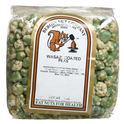 Bergin Nut Company Peas Wasabi, 9-Ounce Bags (Pack of 6)