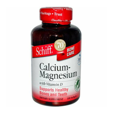 Schiff 765701 Natural Calcium Magnesium with Vitamin D - 100 Softgels