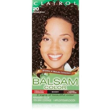 Clairol Balsam Hair Color 20 Darkest Brown 1 Kit